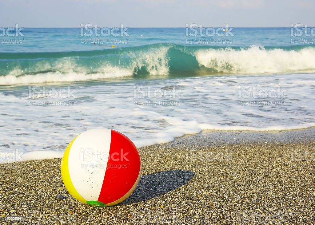 ball on the beach royalty-free stock photo
