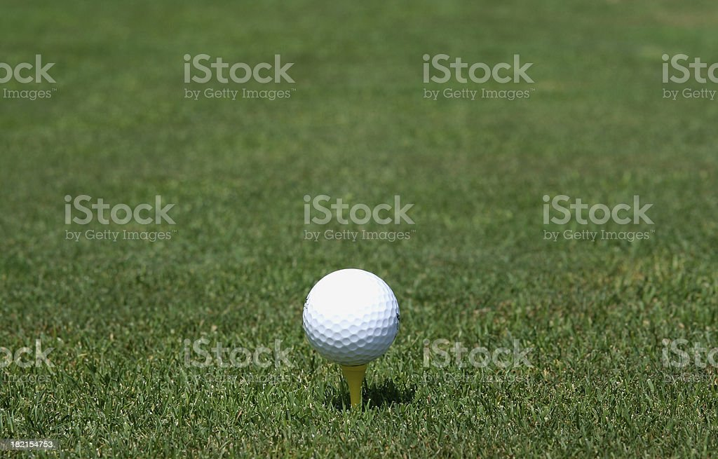 Ball on the green royalty-free stock photo