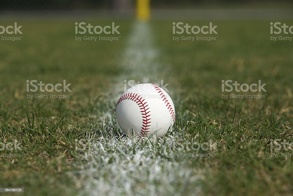 Ball on the Line royalty-free stock photo