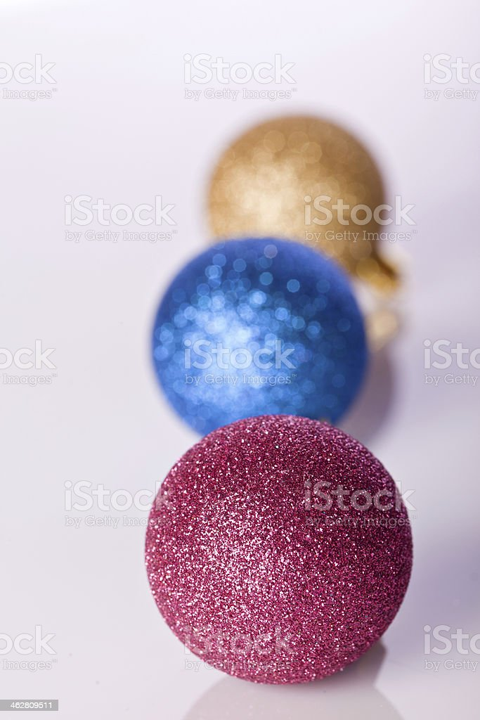 Ball Ornament In Golden Blue And Gold Stock Photo - Download
