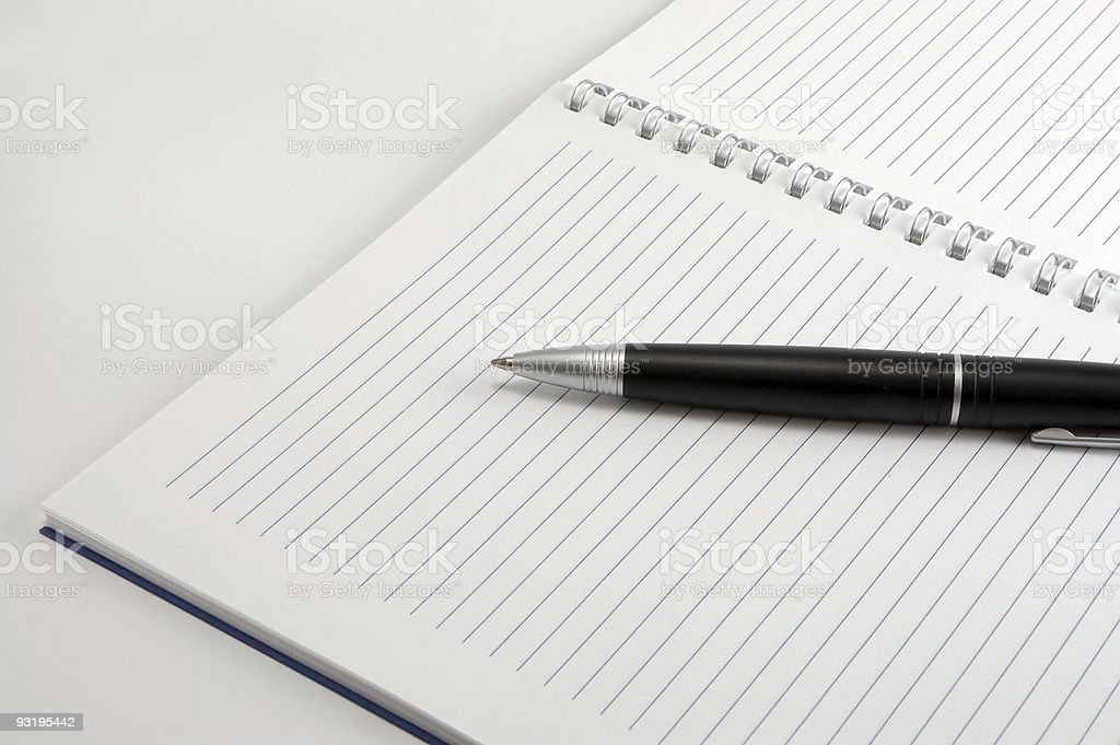 ball pen on а page royalty-free stock photo