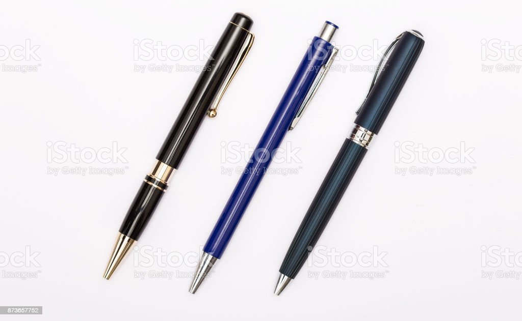 Ball point pen stock photo