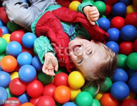 istock Ball pool boy 118879645