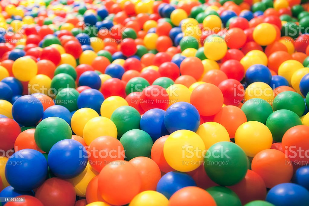 Ball pool stock photo