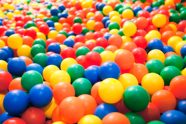 ball pool - ball stock photos and pictures