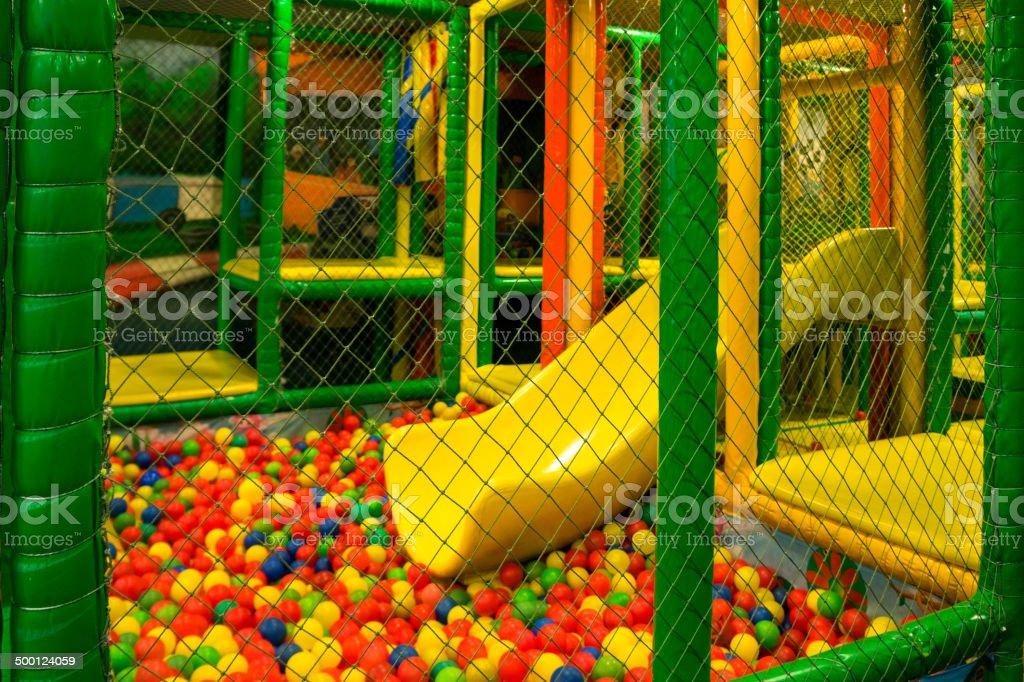 Ball pool stock photo