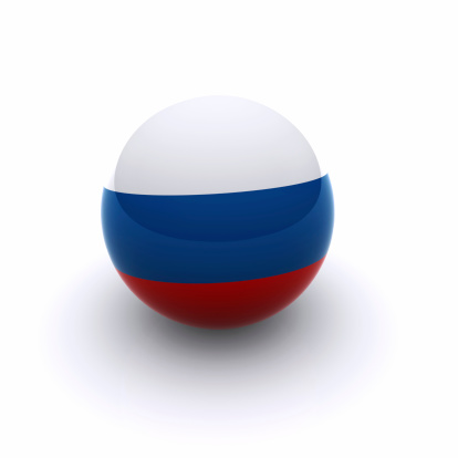 3d Ball Russia Flag Stock Photo - Download Image Now