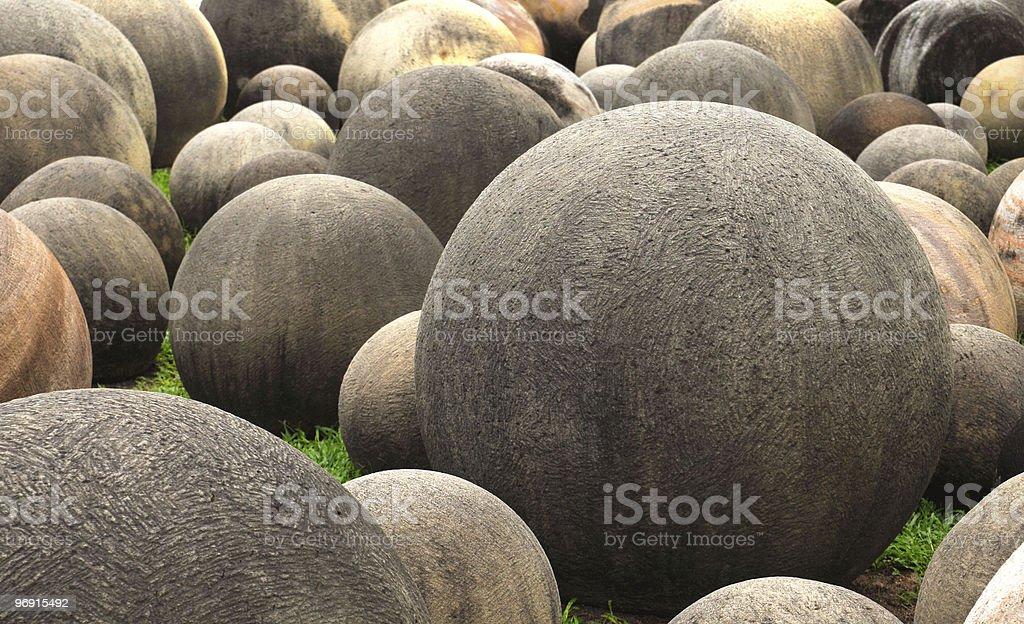 Ball Shaped Stones royalty-free stock photo