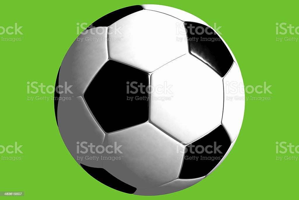 Ball - Soccer (3D) royalty-free stock photo