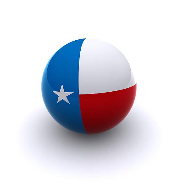 3D Ball - Texas Flag stock photo