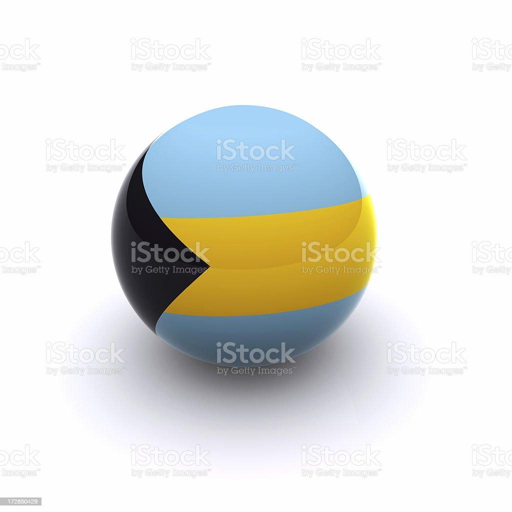 3D Ball - The Bahamas Flag stock photo