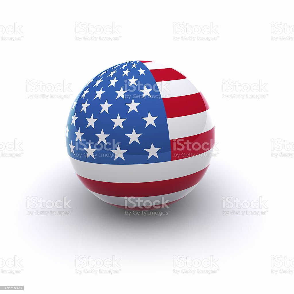Bola 3D de bandera de los Estados Unidos - foto de stock