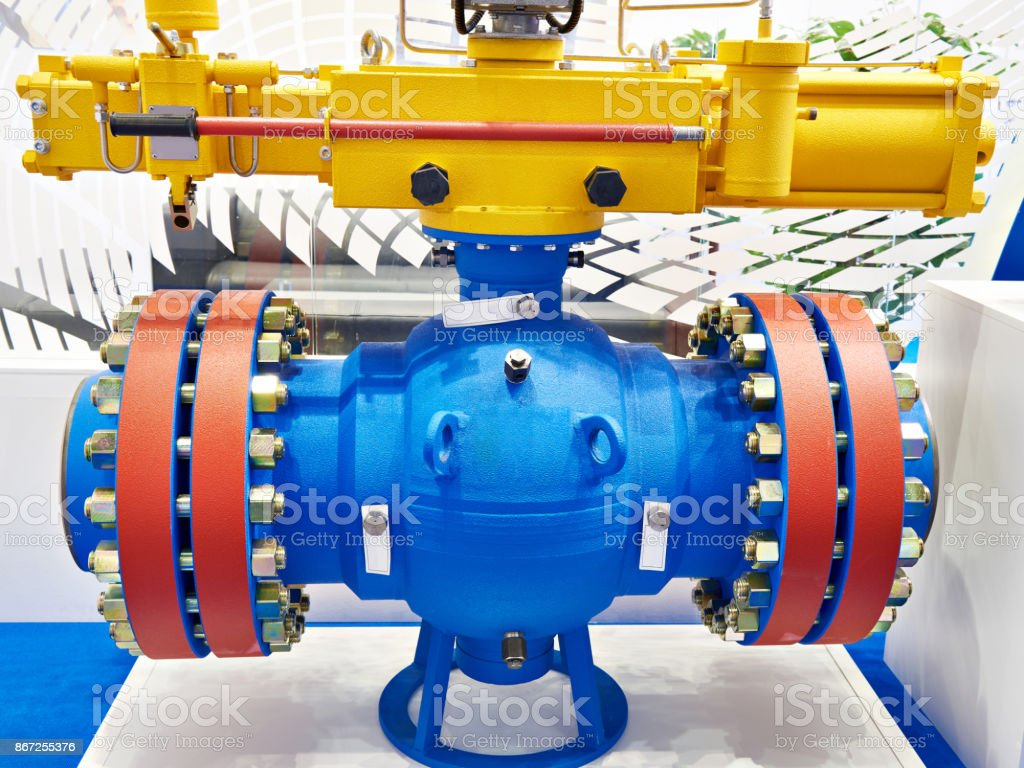 Ball valve for oil and gas industry stock photo