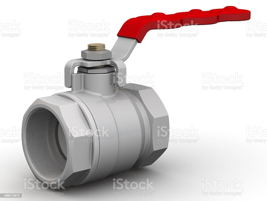Ball valve stock photo