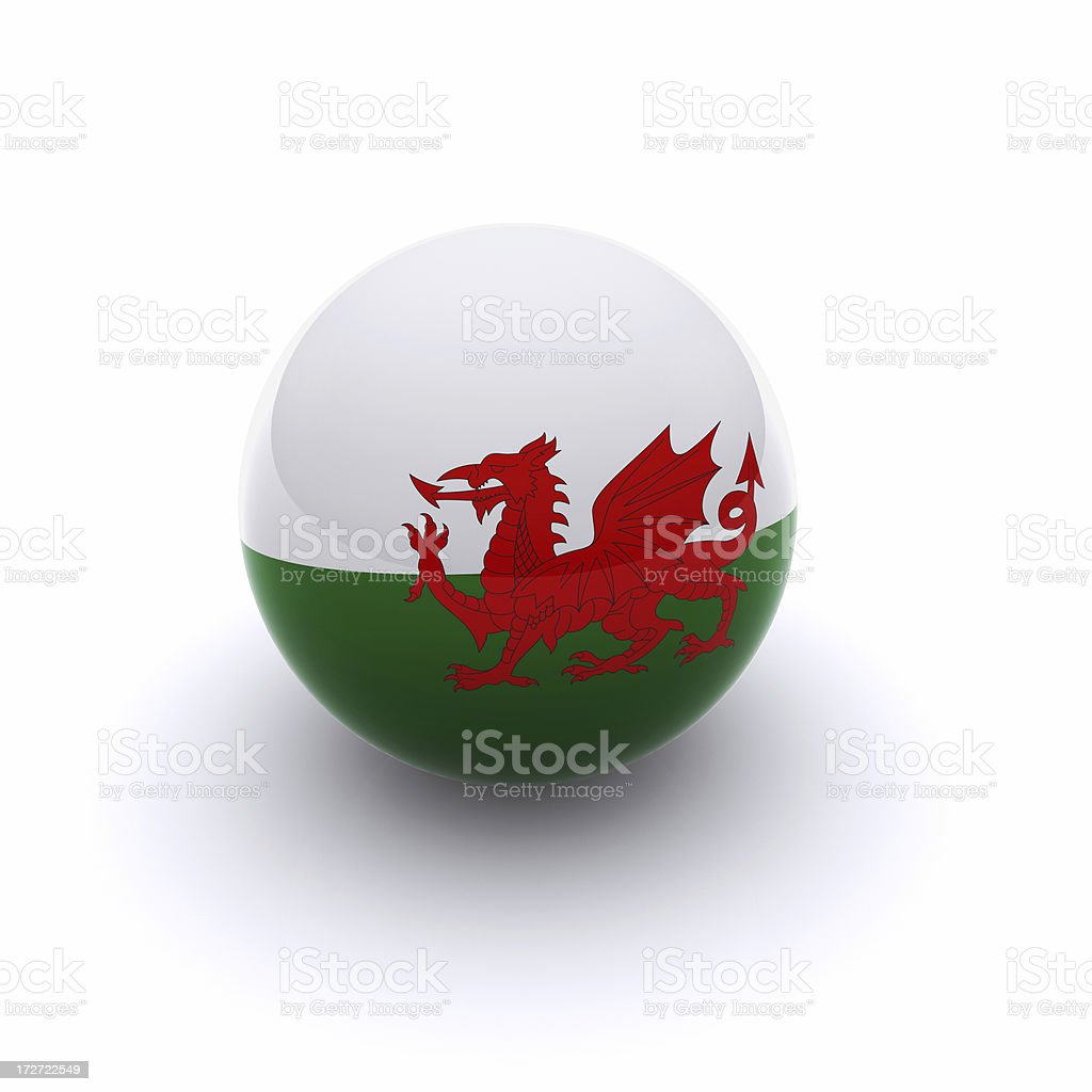 3D Ball - Whales Flag royalty-free stock photo