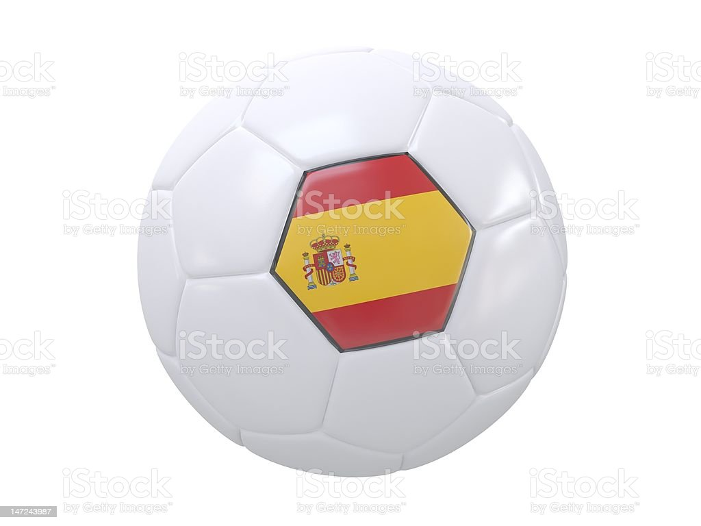 Ball with flag of the Spain royalty-free stock photo