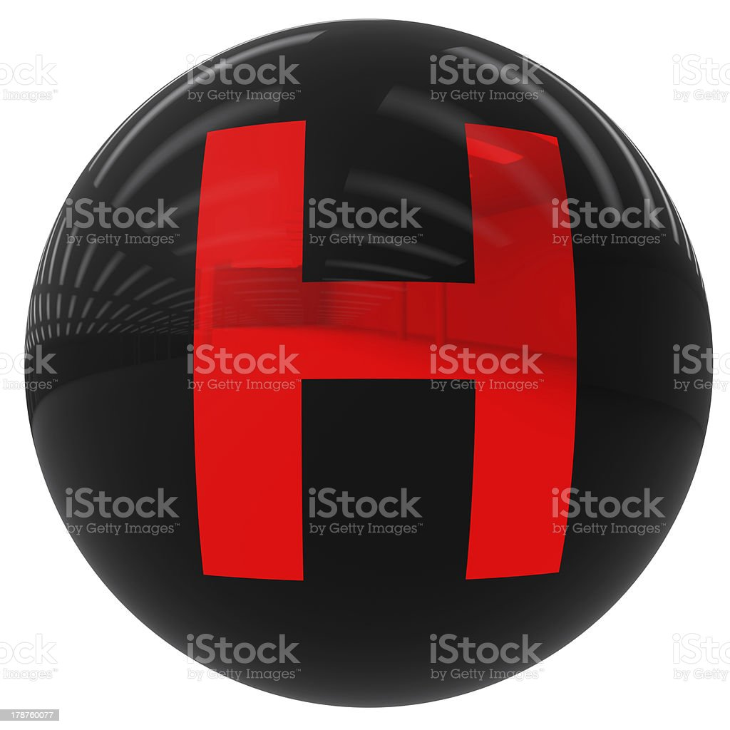 ball with the letter H royalty-free stock photo