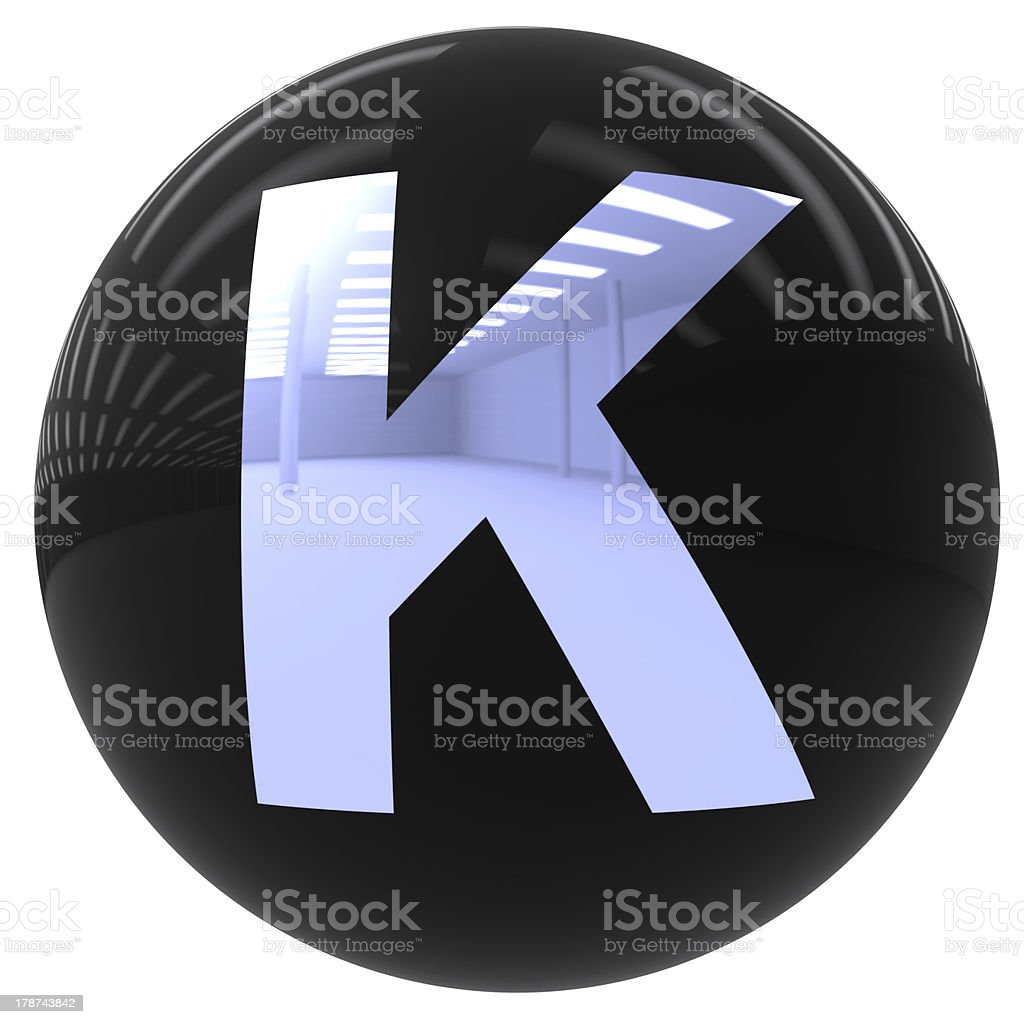ball with the letter K royalty-free stock photo