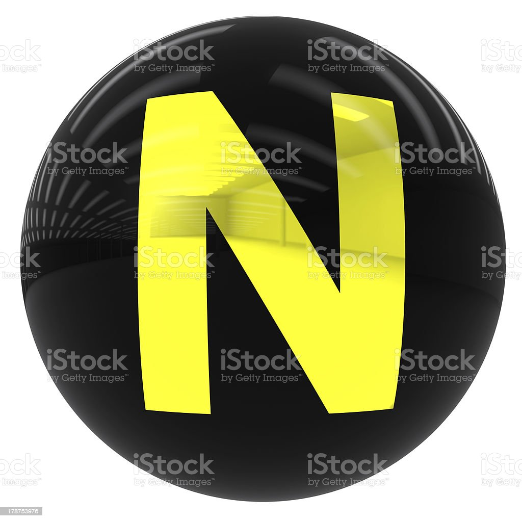 ball with the letter N royalty-free stock photo