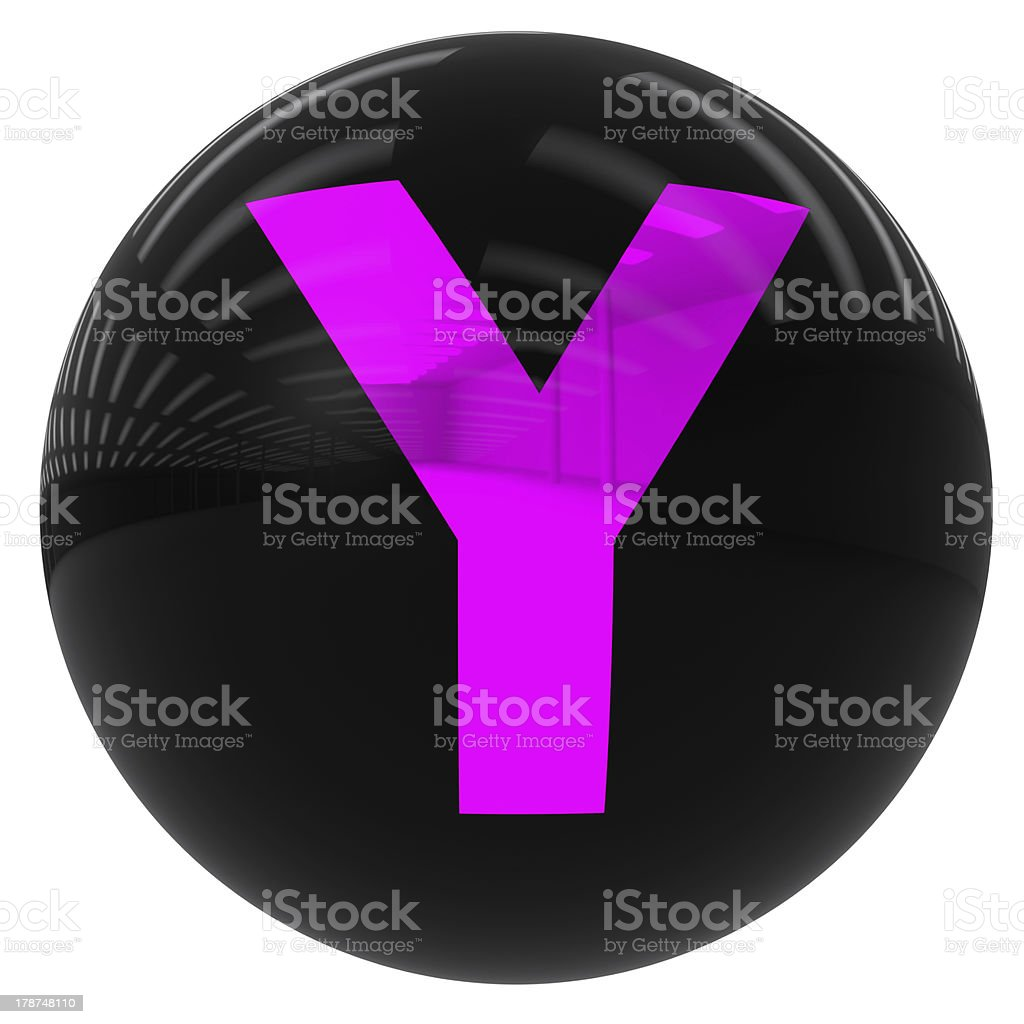 ball with the letter Y royalty-free stock photo