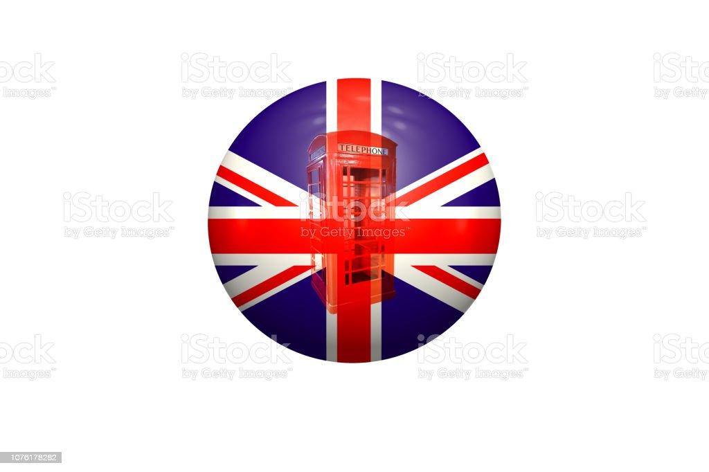 Ball with Union Jack. stock photo