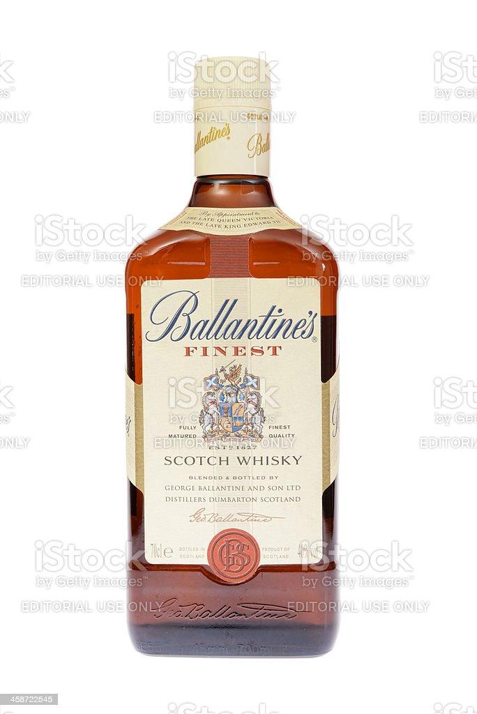 Ballantine's Scotch Whisky Bottle stock photo