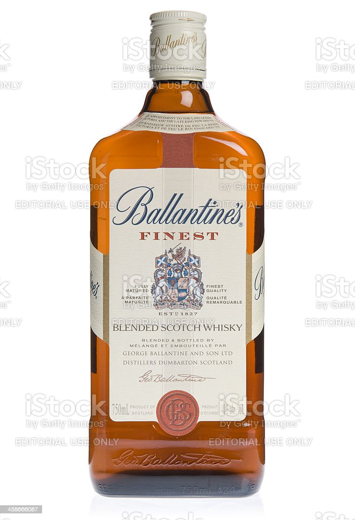 Ballantine's Scoth Whisky Bottle stock photo