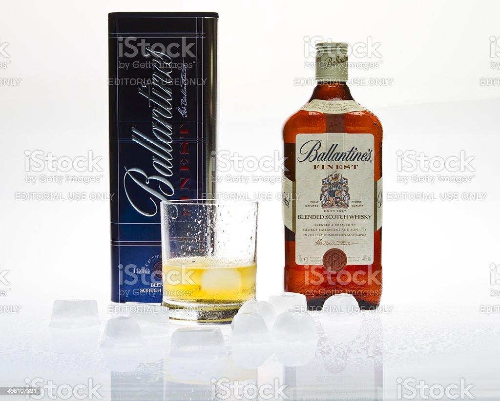 Ballantine's Whisky stock photo