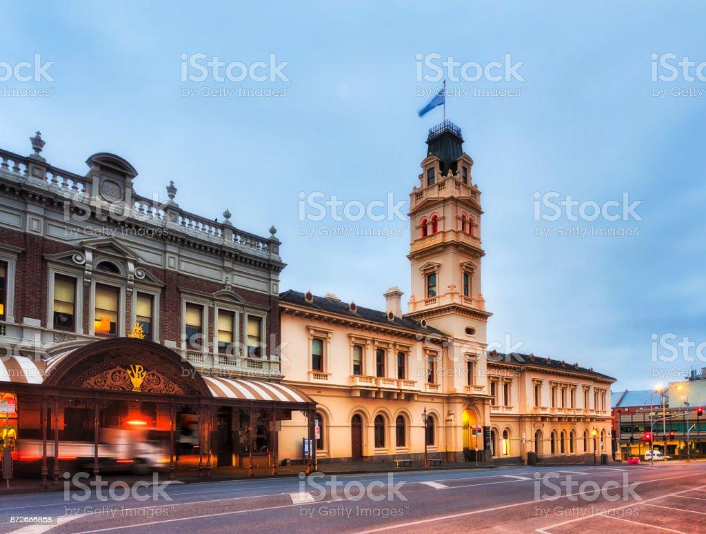 VIC Ballarat Post Office stock photo
