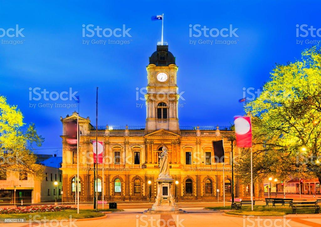 VIC Ballarat Town Hall Facade stock photo