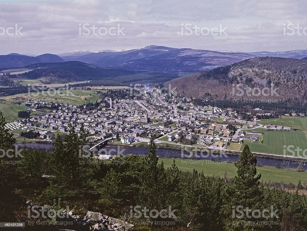Ballater Royal Deeside, Scotland stock photo