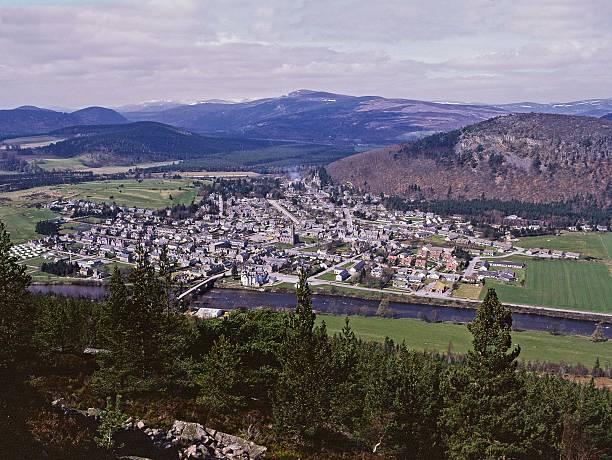 Ballater Royal Deeside, Scotland stock photo