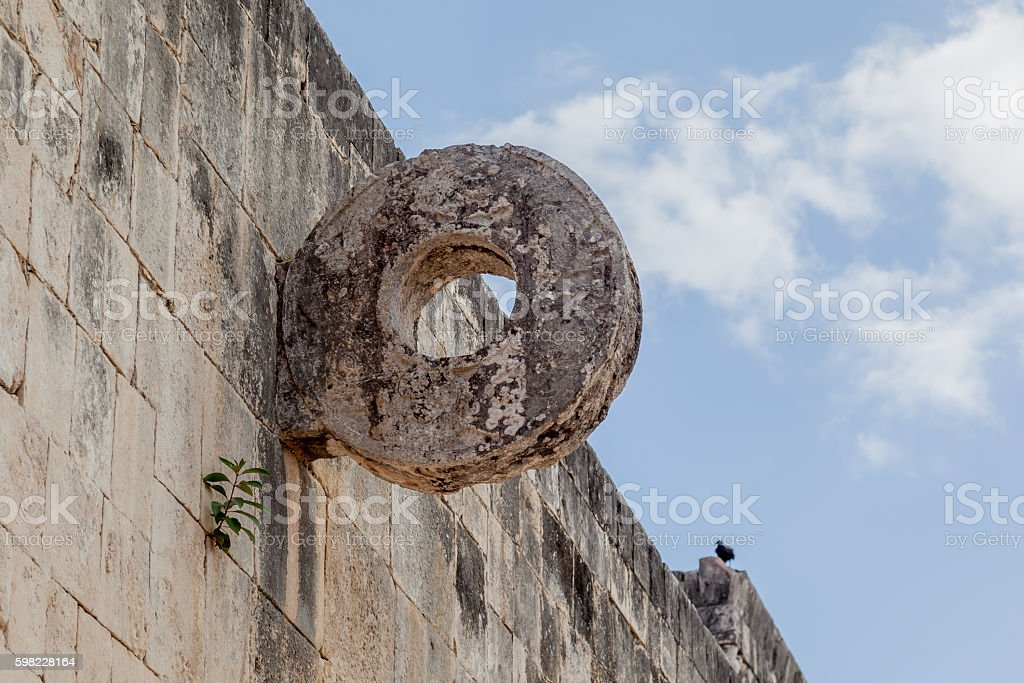 Ball-court ring in the Great Ball Court, Chichen Itza foto royalty-free