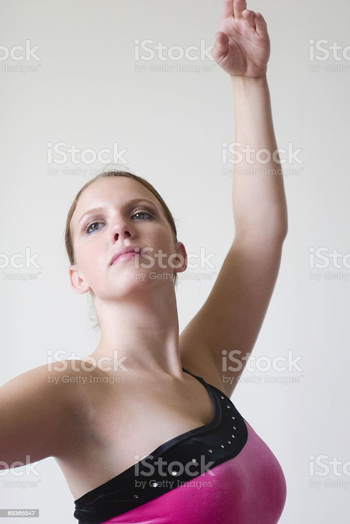 Ballerina dancing - close up of upper body royalty-free stock photo