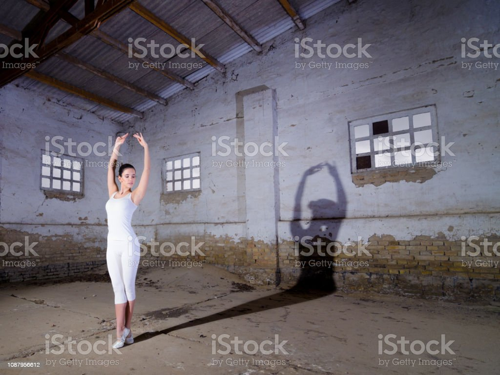 Ballerina Dancing In An Abandoned Building Stock Photo Download Image Now Istock