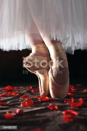 istock Ballerina Dancing on Rose Petals 134450757