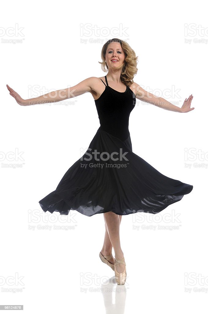 Ballerina in Black Dress royalty-free stock photo
