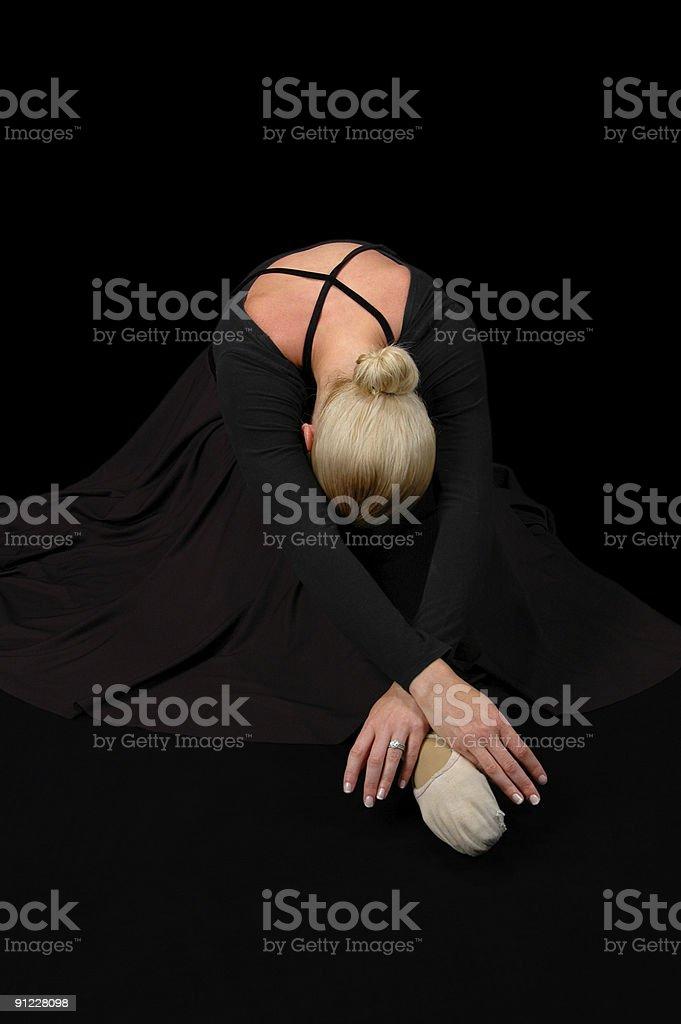 Ballerina in Black royalty-free stock photo