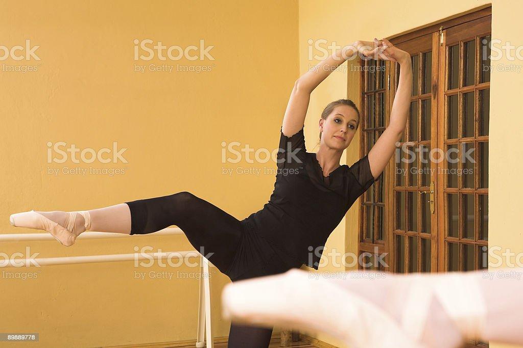 Ballerina in studio royalty-free stock photo
