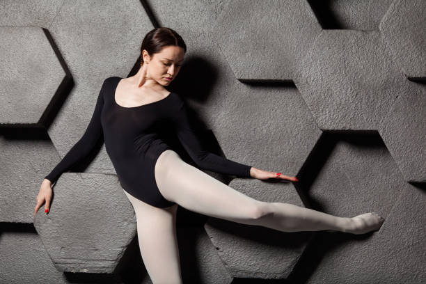 ballerina in the studio - leotard stock pictures, royalty-free photos & images