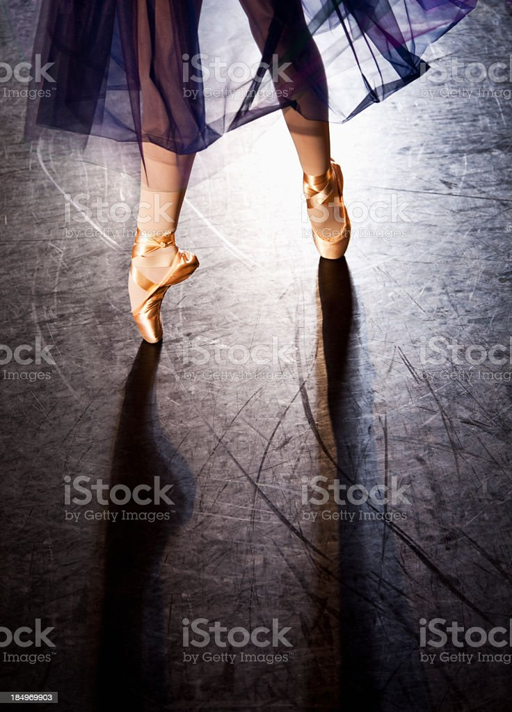 Ballerina en pointe stock photo