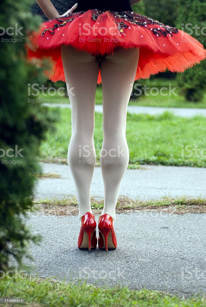 Ballerina legs royalty-free stock photo
