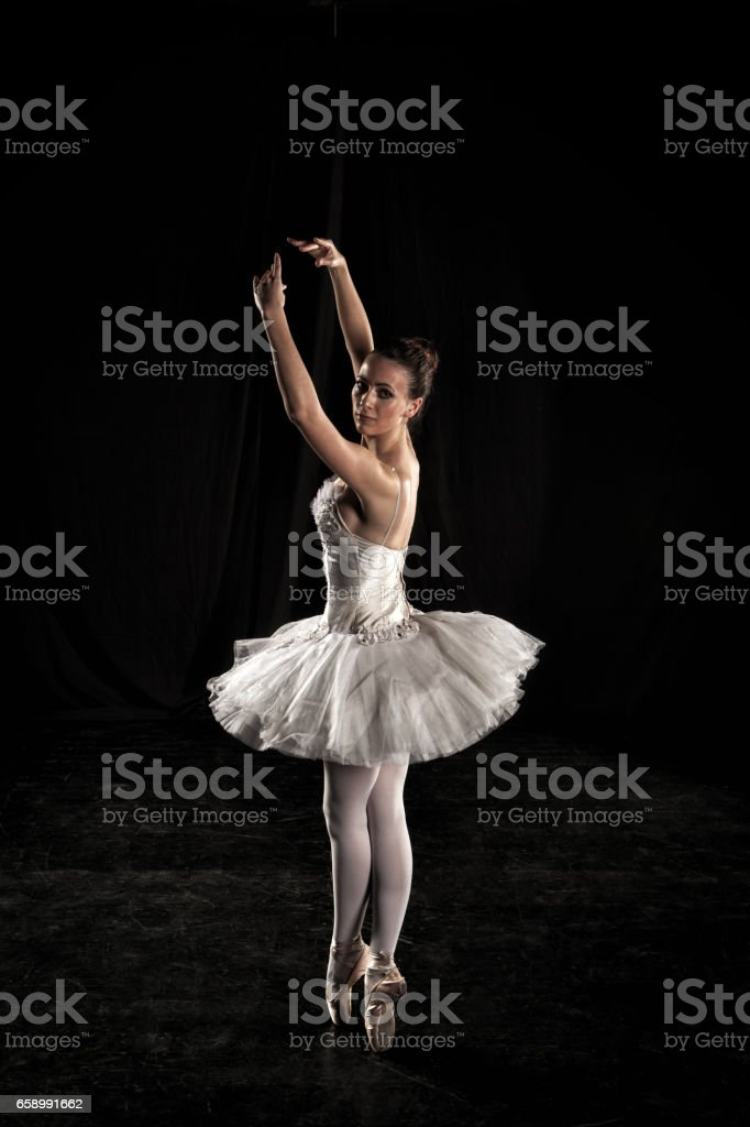 Ballerina on stage royalty-free stock photo