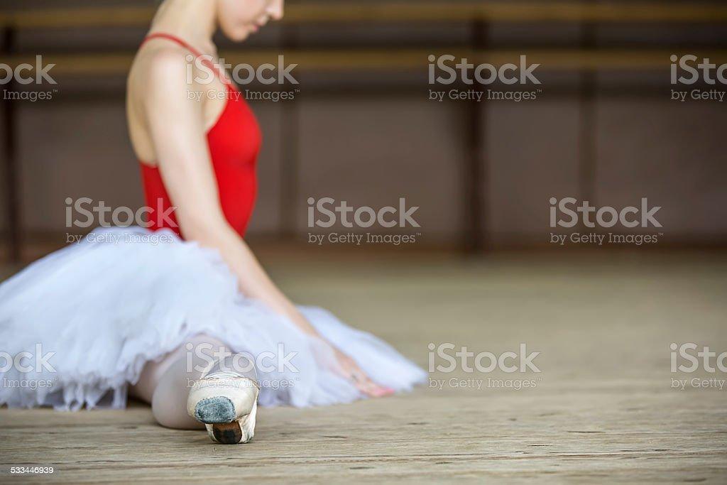 ballerina on tutu stock photo
