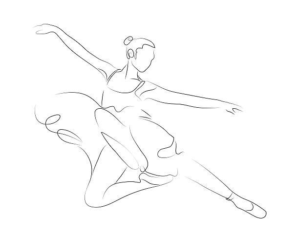 балетки ballerina - штриховой рисунок стоковые фото и изображения