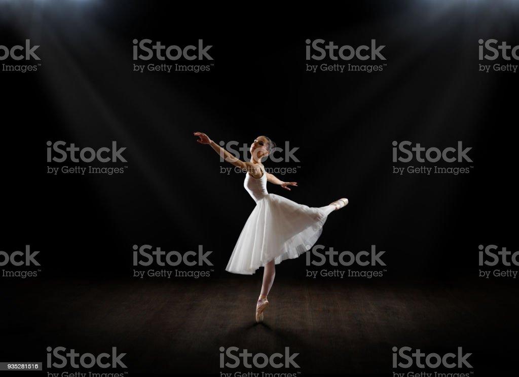 Ballerina (in interior version) stock photo