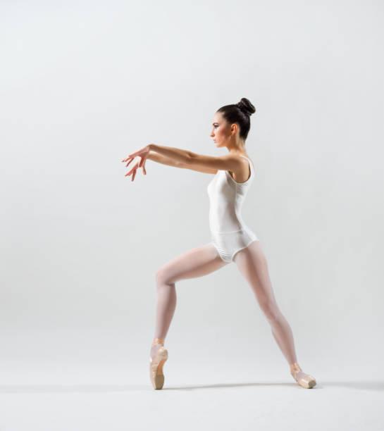 Ballerina (on grey version) stock photo