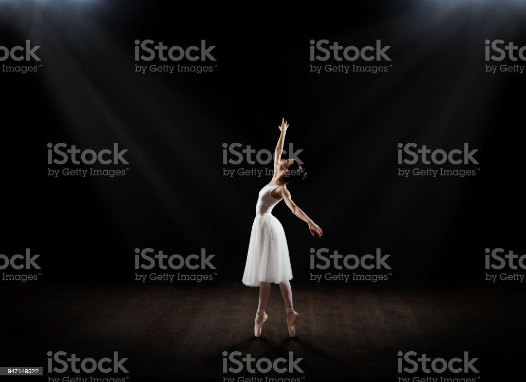 Ballerina (in theatre version) stock photo