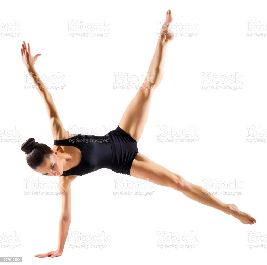 Ballerina (isolated on white version) stock photo
