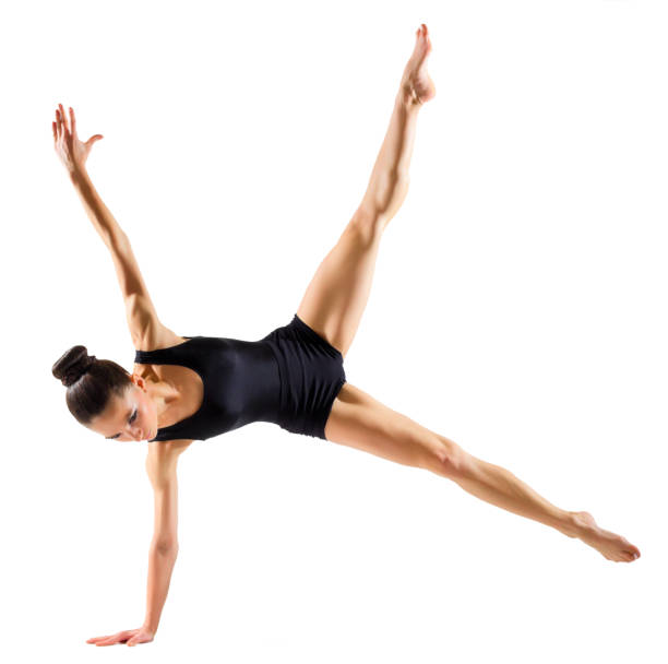 ballerina (isolated on white version) - leotard stock pictures, royalty-free photos & images